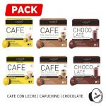 Pack Dolce Gusto 6 Cafe con Leche Capuchino Chocolate