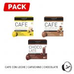 Pack Dolce Gusto Cafe con Leche Capuchino Chocolate