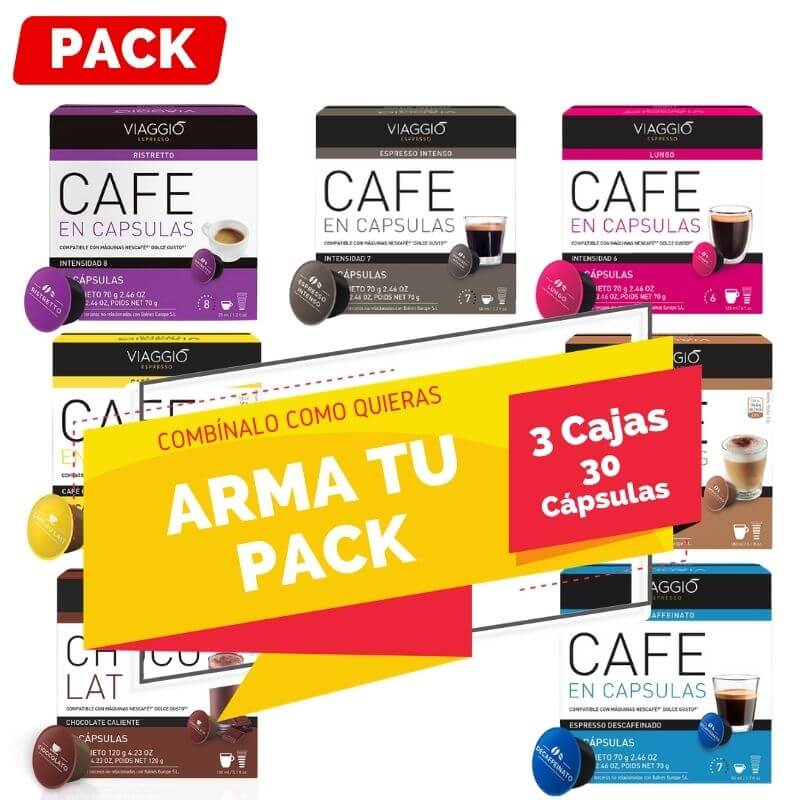 Arma tu Pack Dolce Gusto 3 Cajas