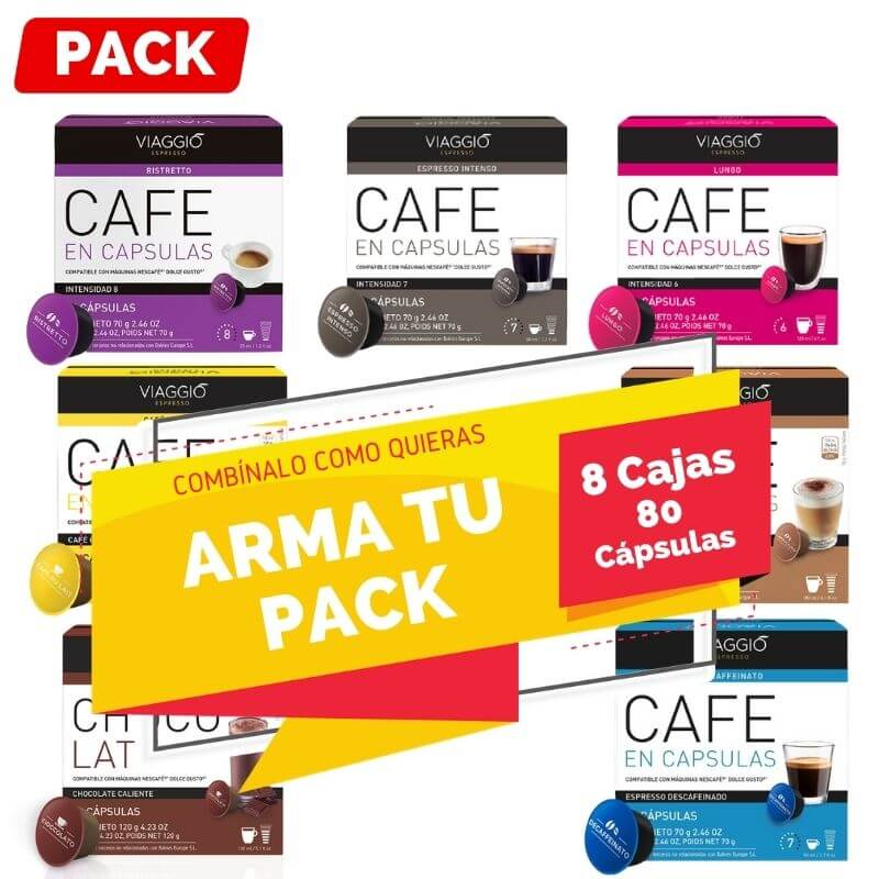 Arma tu Pack Dolce Gusto 8 Cajas